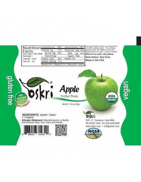 Barrita orgánica de manzana