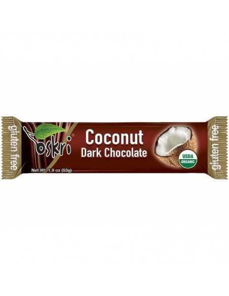 Barrita orgánica de coco con chocolate negro