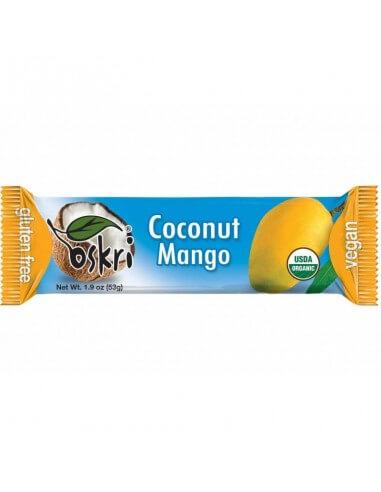 Barrita orgánica de coco con mango