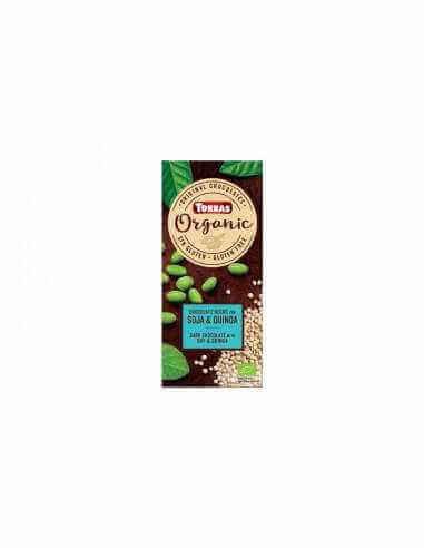 Chocolate ecológico negro con quinoa y soja