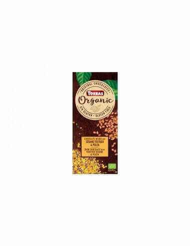 chocolate ecológico con sésamo y polen