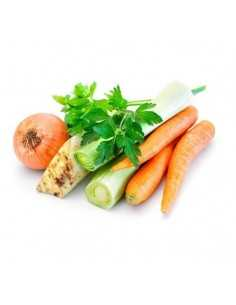 Preparado de verduras para cocido