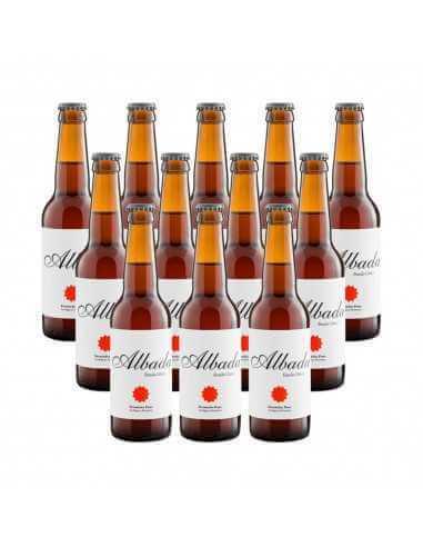 Cerveza rubia ecológica albada