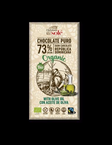 chocolate negro con aceite de oliva ecológico
