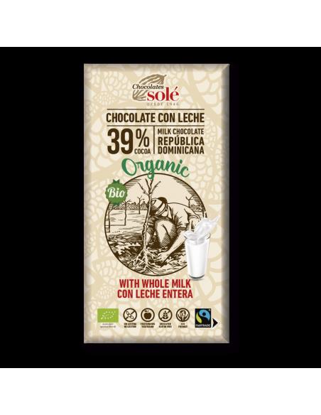 Chocolate con leche (38% cacao) - Chocolates solé