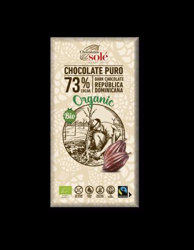 Chocolate negro 73% cacao ecológico