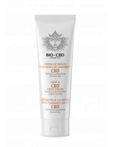 Crema de manos BIO con aceite de cannabis y cbd