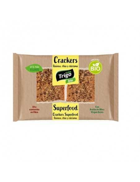 Crackers quinoa, chia y cúrcuma BIO - 125 g