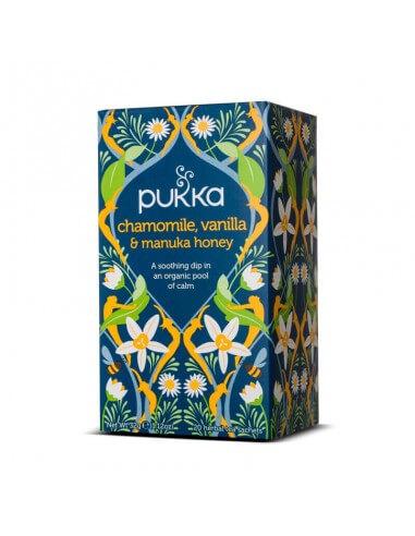 Manzanilla, vainilla y miel de manuka bio infusiones - Pukka