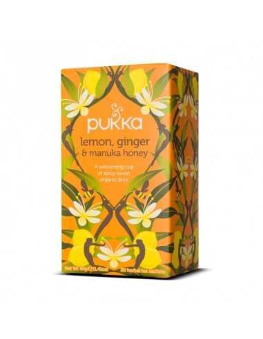 Limón Jengibre y Miel de Manuka Bio 20 infusiones - Pukka
