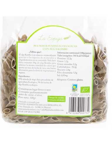 Plumas rayadas BIO con alga kombu -...
