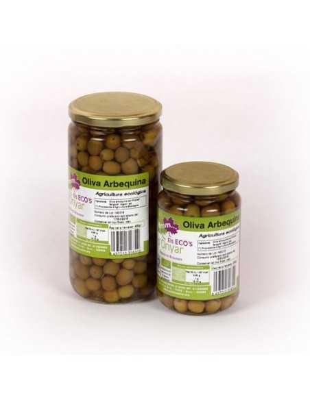 Aceitunas arbequina con agua y sal