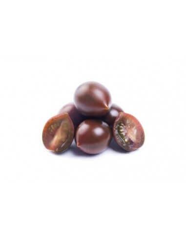 Tomate cherry negro ecológico