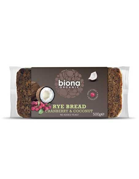Pan de centeno con arándanos y coco